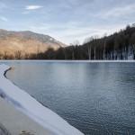 Искусственный водоем озеро | Укладка геомембраны